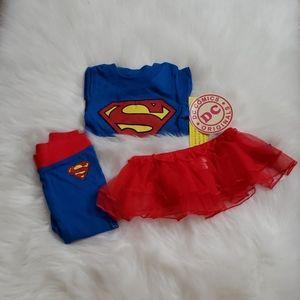 Girls DC 3 pc Superhero Pajama Set